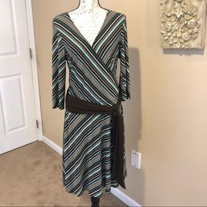 AGB 3/4 Sleeve Wrap Style Dress. Size 14